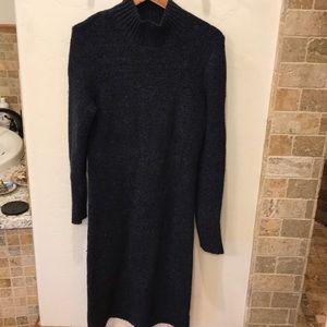 Free People Navy Midi Sweater Dress